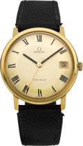Timepieces:Wristwatch, Omega 18k Gold Vintage Wristwatch, circa 1965. ...