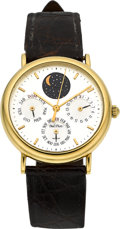 "Timepieces:Wristwatch, Paul Picot ""Aristos"" 18k Gold Mid-Size Calendar With Moon Phase. ..."