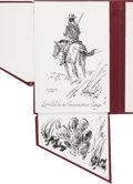 Autographs:Artists, [Texas Art]. John M. Carroll. Illustrations of the Black Soldier in the West....
