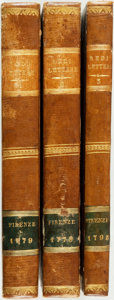 Books:Literature Pre-1900, [Featured Lot]. Francesco Redi. Lettere... Florence: GaetanoCambiagi, 1779-1795. Krown & Spellman retail: $850.... (Total:3 Items)