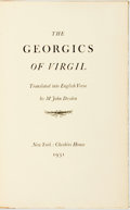 Books:Literature Pre-1900, Virgil. The Georgics Of Virgil Translated into English Verse byMr. John Dryden. New York: Cheshire House, 1931. K...