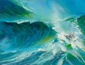 Paintings, JOHN CONRAD BERKEY (American, 1932-2008). Seascape sketches (five works). Acrylic on board. 10.125 x 13.25 in. (image, l... (Total: 5 Items)
