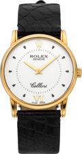 Timepieces:Wristwatch, Rolex Ref. 5116 Gent's Yellow Gold Cellini. ...
