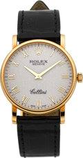 Timepieces:Wristwatch, Rolex Ref. 5115 Gent's Gold Cellini. ...