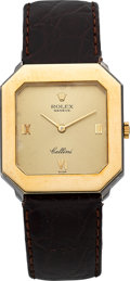Timepieces:Wristwatch, Rolex Cellini Ref. 5156 Yellow & White Gold Wristwatch. ...