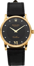 Timepieces:Wristwatch, Rolex Ref. 5116 Gent's Yellow Gold Cellini . ...