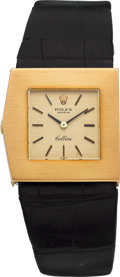 Timepieces:Wristwatch, Rolex Cellini Ref. 4017 Asymmetrical Gold Wristwatch. ...