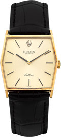 Timepieces:Wristwatch, Rolex Cellini Ref. 4122 Gent's Gold Wristwatch. ...