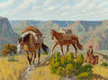 Texas:Early Texas Art - Regionalists, FRED DARGE (American, 1900-1978). On Top the Rim (Palo DuroCanyon). Oil on canvasboard. 12 x 16 inches (30.5 x 40.6 cm)...