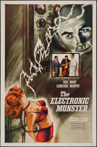 """The Electronic Monster (Columbia, 1960). One Sheet (27"""" X 41""""). Science Fiction"""