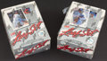 Baseball Cards:Unopened Packs/Display Boxes, 1990 Leaf Baseball Series 1 & 2 Unopened Wax Pack Boxes (2)....