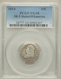Bust Dimes, 1814 10C STATES OF AMERICA, JR-5, R.3, VG10 PCGS. PCGS Population(2/0). ...