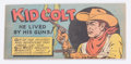 "Premiums:Comic, Wisco/Klarer Comic Book (Miniature) Kid Colt ""He Lived By HisGuns!"" (Various, 1950) Condition: NM-...."