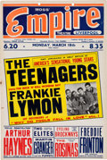Music Memorabilia:Posters, Frankie Lymon And The Teenagers, British Tour Poster, 1957...