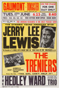 Music Memorabilia:Posters, Jerry Lee Lewis British Tour Poster, 1958...