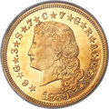 Proof Four Dollar Gold Pieces, 1879 $4 Flowing Hair, Judd-1635, Pollock-1833, R.3, PR65+ Cameo PCGS. CAC....