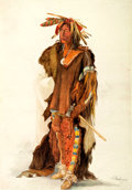"""Books:Prints & Leaves, [Karl Bodmer]. Reproduction Folio Print Entitled, """"The BigSoldier"""". Chicago: The Lakeside Press, [n.d., circa 1970]. ..."""