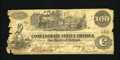 Confederate Notes:1862 Issues, T39 $100 1862. The left-hand edge has lost some paper. Good....