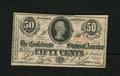 Confederate Notes:1863 Issues, T63 50 Cents 1863. A little bit of embossing is noticed. ChoiceCrisp Uncirculated....