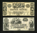 Obsoletes By State:Louisiana, New Orleans, LA- Canal Bank $20 18__ Two Examples. Two different types of Twenties for this bank are in this lot. The angel ... (Total: 2 notes)