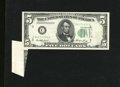 Error Notes:Major Errors, Fr. 1962-C $5 1950A Federal Reserve Note. Extremely Fine. Here is amost interesting and dramatic error, with the third prin...