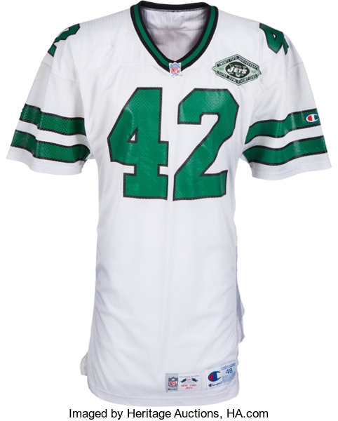 uk availability d9e21 2bbba 1993 Ronnie Lott Game Worn New York Jets Jersey ...