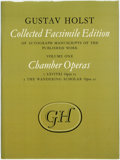 Books:Music & Sheet Music, Imogen Holst, editor. Gustav Holst: Collected Facsimile Edition of Autograph Manuscripts of the Published Works. Volume ...
