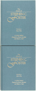 Books:Music & Sheet Music, Steven Saunders and Deane L. Root, editors. The Music of StephenC. Foster... A Critical Edition. Washington: Sm... (Total: 2Items)