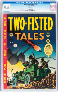 Two-Fisted Tales #23 Gaines File pedigree 5/10 (EC, 1951) CGC NM+ 9.6 White pages