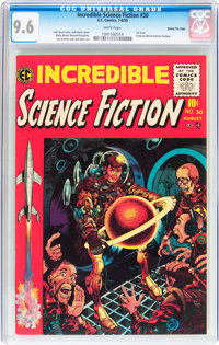 Incredible Science Fiction #30 Gaines File pedigree 12/12 (EC, 1955) CGC NM+ 9.6 White pages