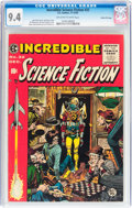Golden Age (1938-1955):Science Fiction, Incredible Science Fiction #32 Gaines File pedigree 3/12 (EC, 1955)CGC NM 9.4 Off-white to white pages....