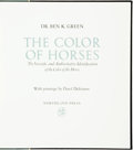 Books:Natural History Books & Prints, Dr. Ben K. Green. Darol Dickenson, illustrations. SIGNED/LIMITED. The Color of Horses: The Scientific and Authoritative ...