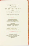 Books:Travels & Voyages, James Boswell. LIMITED. The Journal of a Tour to the Hebrides with Samuel Johnson, LL. D. Limited Editions Club, 197...