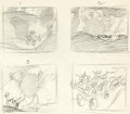 Animation Art:Production Drawing, Pinocchio Concept Art Sketch Group (Walt Disney, 1940)....