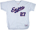 Baseball Collectibles:Uniforms, Circa 2001 Vladimir Guerrero Game Worn Montreal Expos Jersey. ...