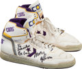 Basketball Collectibles:Others, Circa 1988 Magic Johnson Game Worn Los Angeles Lakers Shoes. ...