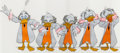 Animation Art:Production Cel, Wonderful World of Color Ludwig Von Drake Production CelGroup (Disney, 1960s).... (Total: 5 Items)