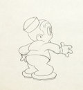 Animation Art:Production Drawing, Buddy Production Drawing (Warner Brothers, 1934)....