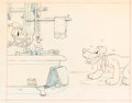 Animation Art:Production Drawing, Donald's Dog Laundry Pluto Publicity Drawing (Walt Disney,1940)....