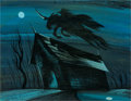Animation Art:Production Drawing, Mary Blair The Adventures of Ichabod and Mr. Toad HeadlessHorseman Concept Painting (Walt Disney, 1949)....