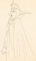Animation Art:Production Drawing, Snow White and the Seven Dwarfs Evil Queen Animation Drawing (Walt Disney, 1937)....