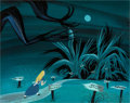 Animation Art:Concept Art, Mary Blair Alice in Wonderland Tugley Woods Concept Painting(Walt Disney, 1951)....