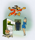 Animation Art:Presentation Cel, Hong Kong Phooey Publicity Cel (Hanna-Barbera, 1974)....(Total: 2 Items)