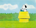 Animation Art:Production Cel, The Charlie Brown and Snoopy Show Snoopy Production CelSequence with Animation Drawing Group (Bill Melendez, 1982)....