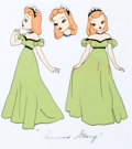 Animation Art:Color Model, Gulliver's Travels Princess Glory Color Model (Fleischer Studios, 1939).... (Total: 2 Items)