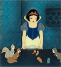 Animation Art:Production Cel, Snow White and the Seven Dwarfs Snow White and AnimalFriends Production Cel Setup (Walt Disney, 1937)....