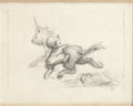 Animation Art:Production Drawing, Fantasia Faun and Unicorn Storyboard Drawing (Walt Disney,1940)....