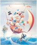 Memorabilia:Comic-Related, Carl Barks Sailing the Spanish Main Lithograph #113/245 (Another Rainbow, 1982). ...