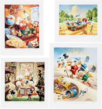 Carl Barks Lithographic Suite of Preliminary Paintings Portfolio #488/500 (Another Rainbow, 1989).... (Total: 13 )