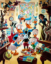 Carl Barks In Uncle Walt's Collectery Limited Edition Print #224/345 (Another Rainbow, 1984).... (Total: 2 )